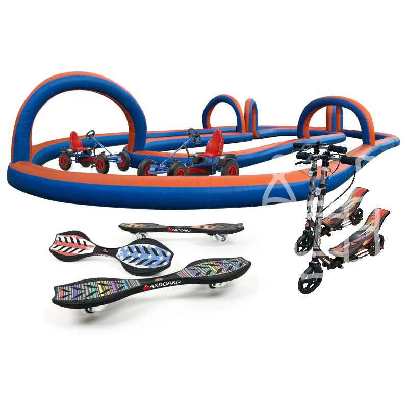 Racebaan Parcours (incl skelter/step of waveboard) huren