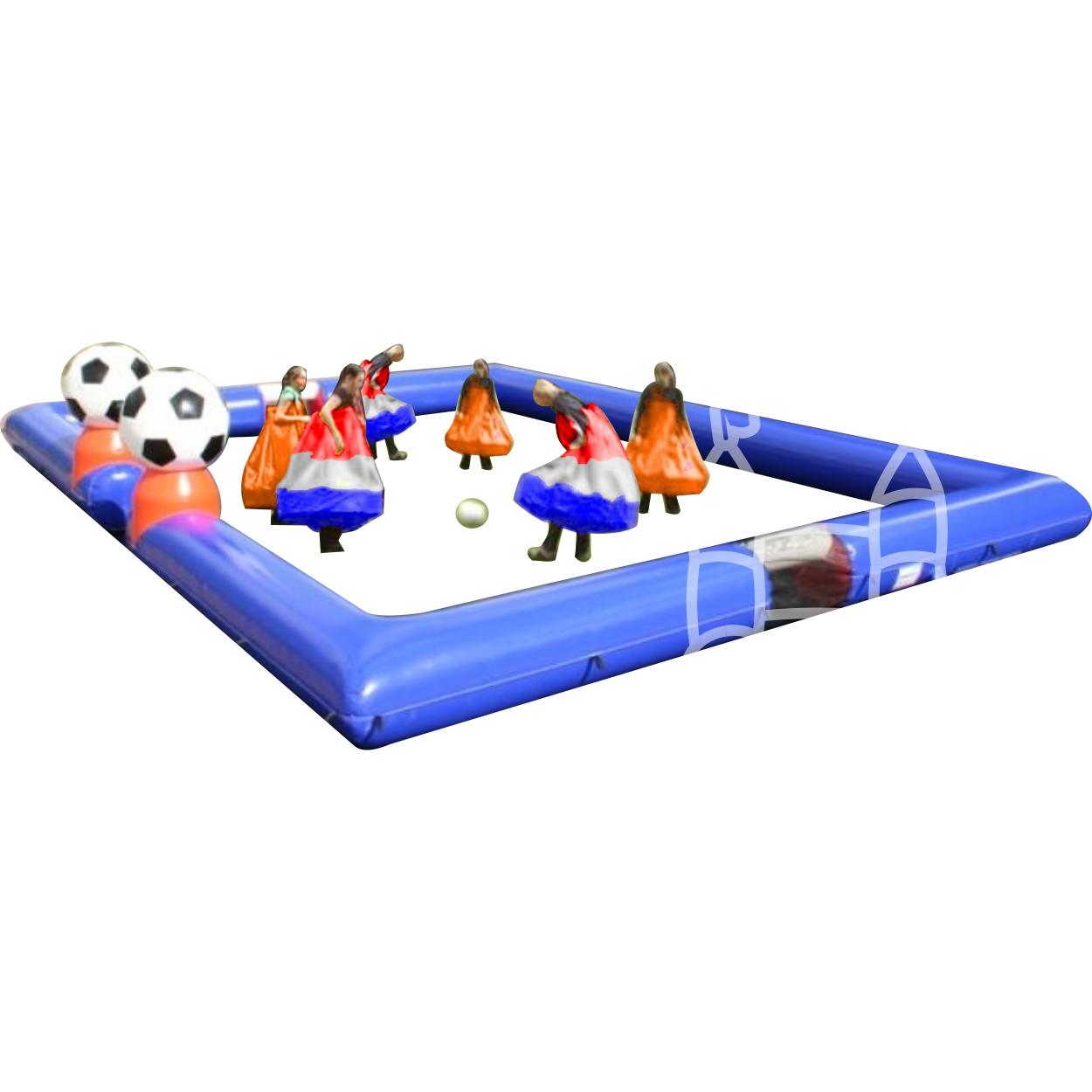 Rokvoetbal 3 tegen 3 incl boarding12x9m huren